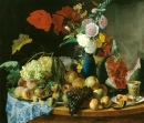 Stil Life with Flowers and Fruits