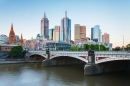 Melbourne Skyline and Princes Bridge