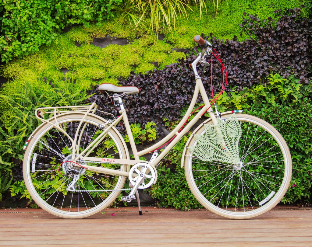 Links To More Than 10 000 Crochet Patterns And Pieces: Crochet Bicycle Skirt Guard Jigsaw Puzzle In Puzzle Of The