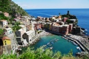 Vernazza Town in Liguria, Italy