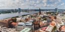 View of Riga from St. Peter's Church, Latvia