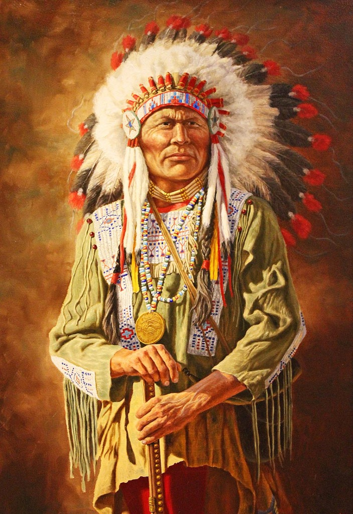 A Native American Chief Jigsaw Puzzle In People Puzzles On
