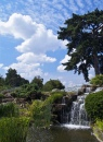 Kew Gardens Waterfall and Sky Scene