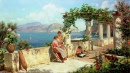 Figures on a Terrace in Capri