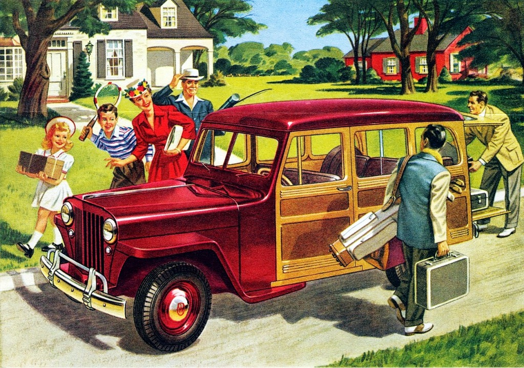 1946 Willys Jeep Station Wagon Jigsaw Puzzle In Cars Bikes Puzzles