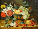 Fruit Bowl with Flowers