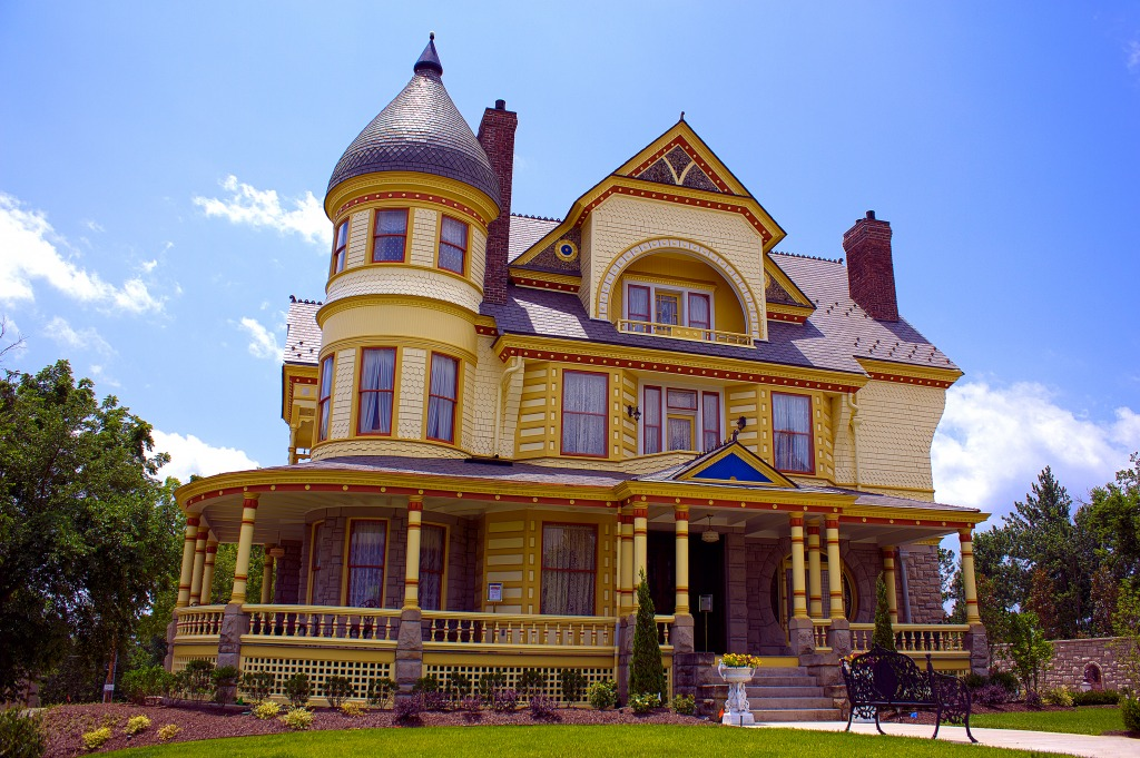 Queen Anne Mansion Jigsaw Puzzle In Street View Puzzles On