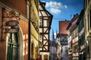 Gasse in Bamberg, Bavaria, Germany