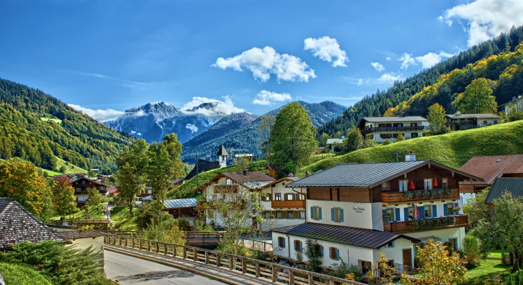 Bavarian Alps Jigsaw Puzzle In Street View Puzzles On Thejigsawpuzzles Com