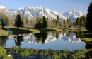 Grand Tetons reflected in a Pond