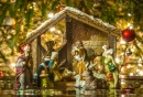 Old Handmade Nativity Scene