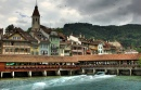 Thun Waterfront and Bridge, Switzerland