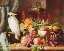 Still Life with Fruit and a Cockatoo