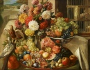 Still Life with Birds, Flowers and Fruits