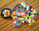 Perler Bead Colorful Turtle