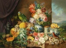 Still Life with Fruit, Flowers and Parrot