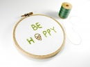 Be Hoppy Hand Embroidered Wall Decor