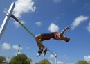 Athlete Completing High Jump Event