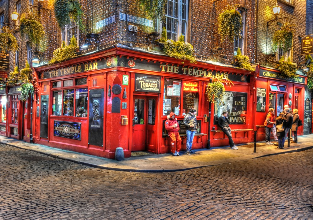 The Temple Bar, Dublin, Ireland jigsaw puzzle in Street ...