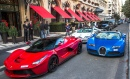 Two Bugattis and a Ferrari