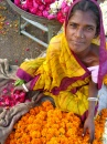 Flower Seller at the Indian Bazaar