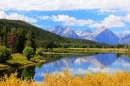Grand Tetons at Oxbow Bend