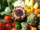 Artichoke Flower and More Veggies