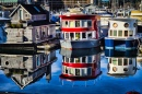 Houseboat Reflections, Vancouver BC