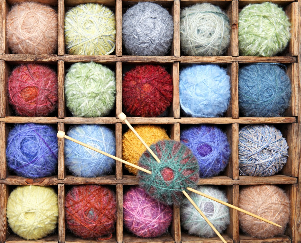 Links To More Than 10 000 Crochet Patterns And Pieces: Wool And Mohair Yarns Jigsaw Puzzle In Handmade Puzzles On