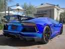 Chrome Blue Lamborghini Aventador