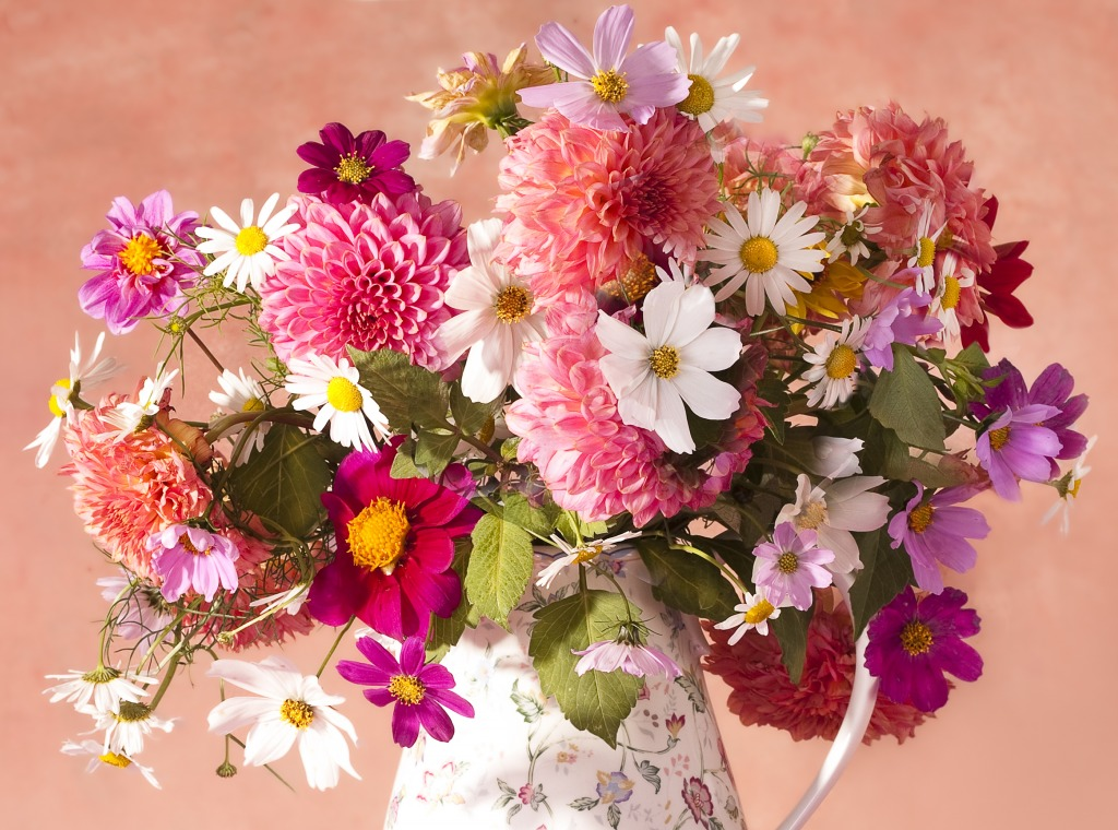 Autumn Flowers In A Vase Jigsaw Puzzle In Flowers Puzzles On