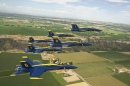 Blue Angels Fly over Snake River Canyon