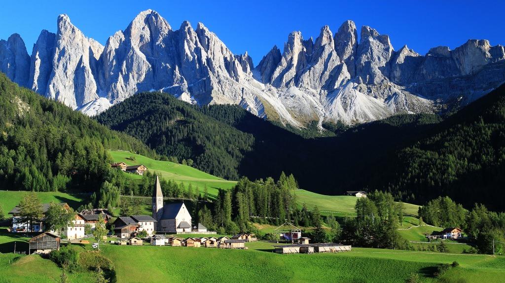 Santa Maddalena Italian Alps Jigsaw Puzzle In Great