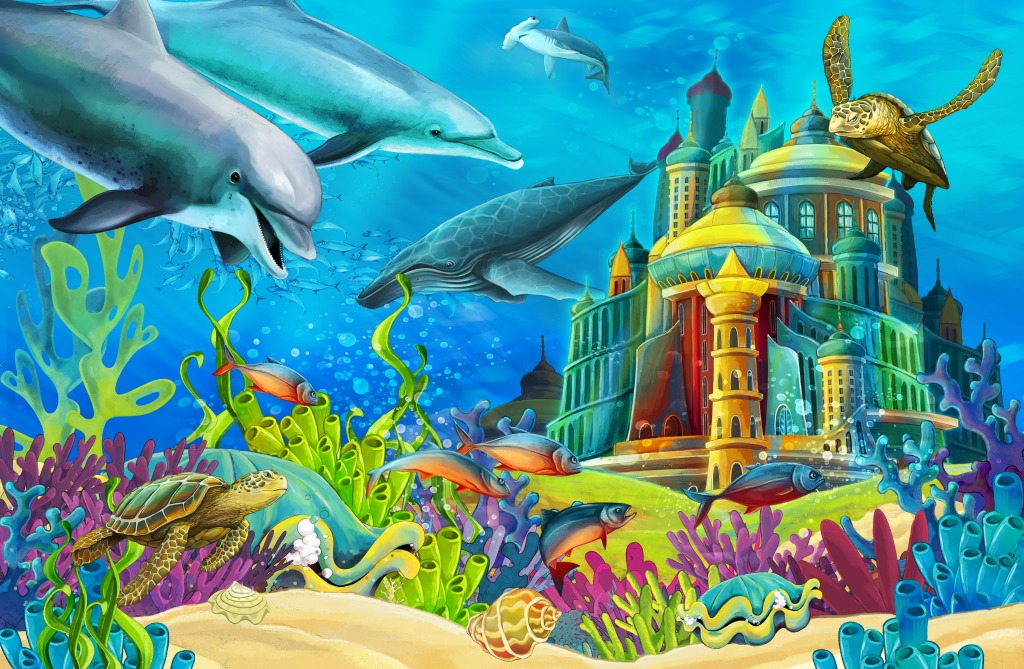 Underwater Mermaid Castle The gallery for -->...