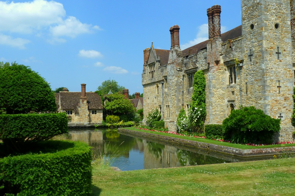 Hever Castle Moat Kent England Jigsaw Puzzle In Castles