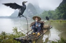Cormorant Fisherman and His Bird