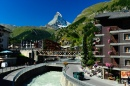 Zermatt, Vispa River and the Matterhorn