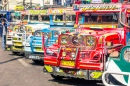 Colorful Jeepneys in Baguio, Philippines