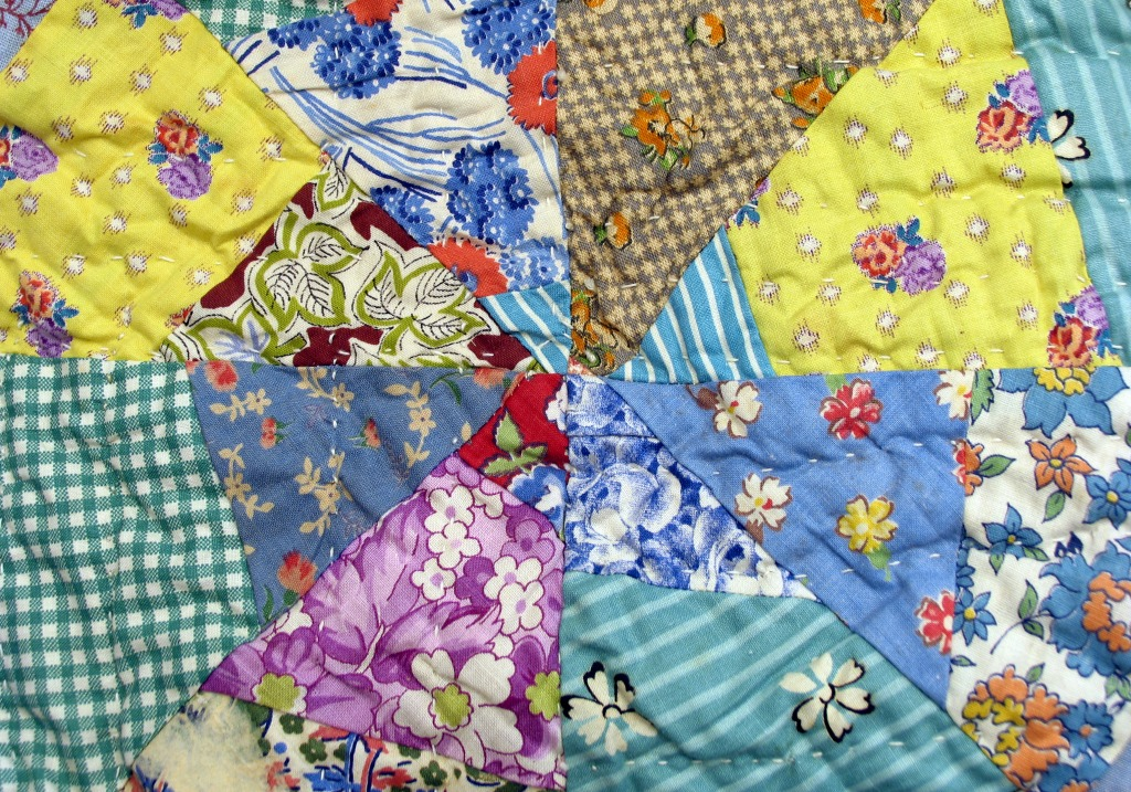An Old Quilt Jigsaw Puzzle In Handmade Puzzles On