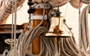 Bell on a Vintage Sailboat