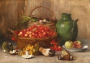Still Life with Mushrooms and Cherries