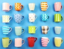 Colorful Cups Closeup