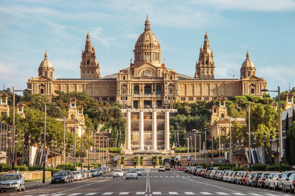 National Palace Barcelona Spain Jigsaw Puzzle In Castles