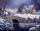 White Christmas puzzle on TheJigsawPuzzles.com