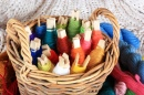 Colorful Yarn Basket