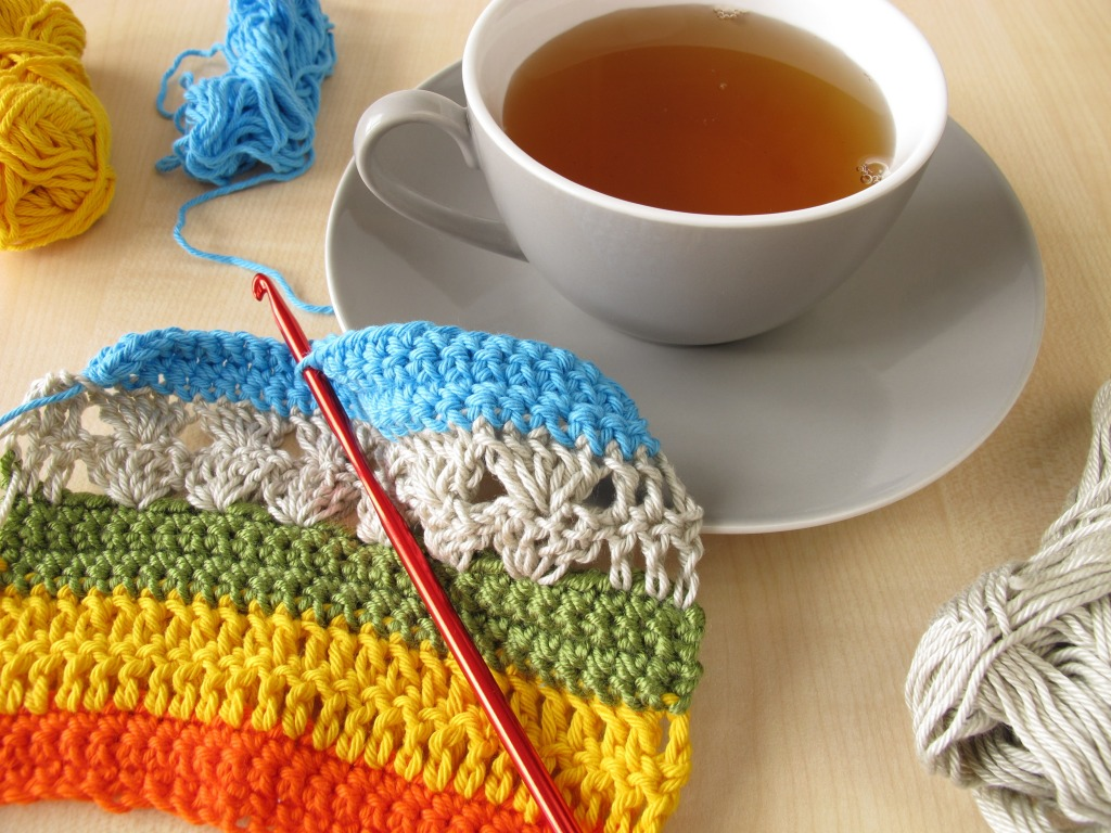 Links To More Than 10 000 Crochet Patterns And Pieces: Crochet And A Cup Of Tea Jigsaw Puzzle In Handmade Puzzles