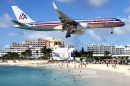 AA Boeing 757-223 over Saint Martin