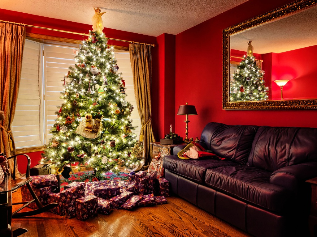 Living Room Jigsaw Puzzle In Christmas New Year Puzzles On