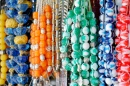 Beads For Sale in a Market in Greece