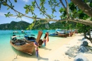 Long Tail Boats in Phi Phi, Thailand